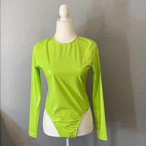 Fashion Nova Latex Bodysuit